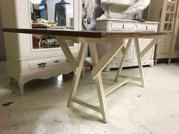 SOLD - Country Farmhouse Look  French Dining Table - v70
